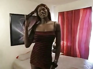 Ebony tranny fucked by white guy